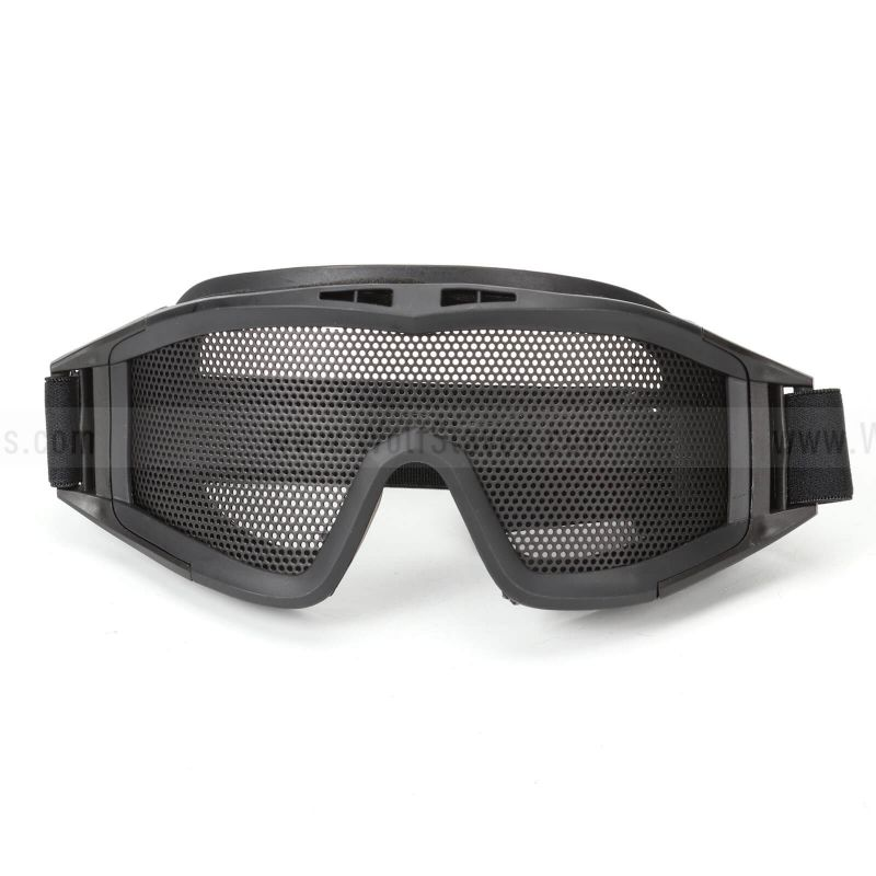 Desert Locust Style Tactical Eye Protection Metal Mesh Goggle