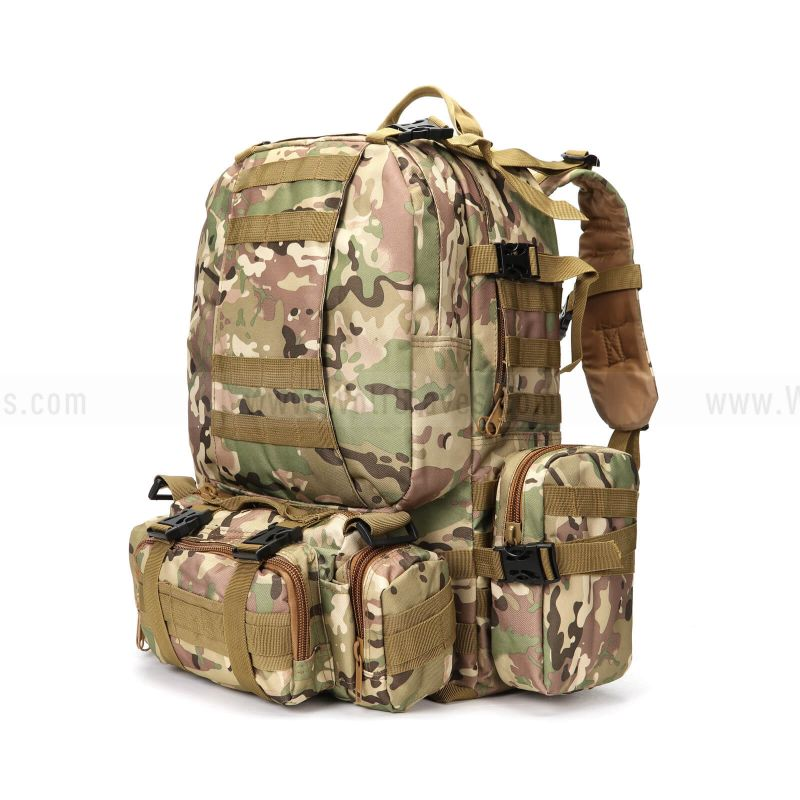 Large Tactical Outdoor Trekking Rucksacks Military Bag for Hiking Outdoor Camouflage Multi-function Combination Backpack