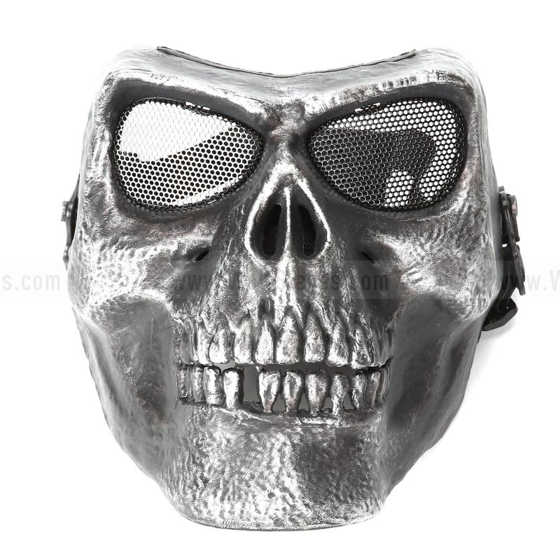 Tactical Airsoft Skull Skeleton Full Face Protector Mask M02 High Quality Version