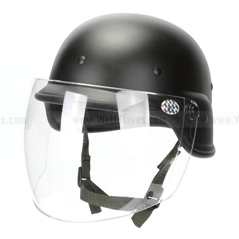 Tactical Military Airsoft M88 PASGT Swat Helmet with  Face Glass Clear Visor
