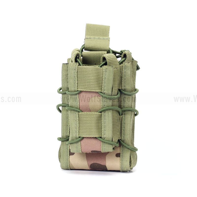Tactical MOLLE Double Stacker M4 Mag Pouch with Pistol Mag Pouch
