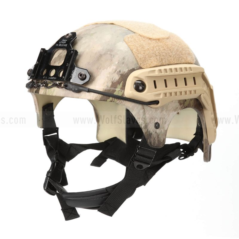 Tactical USMC Type Special Force IBH Helmet with NVG Mount & Side Rail Action Version