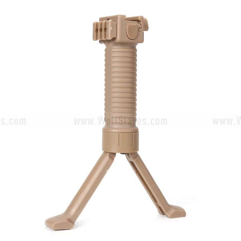 Wolfslaves 20mm RIS Spring Bipod Foregrip With Single Side Rail