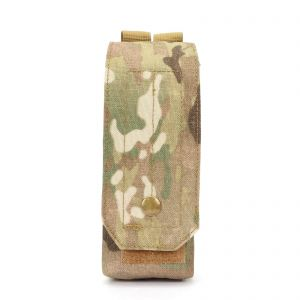 Airsoft Molle Single Ak Magazine Pouch with Hook & Loop Flip