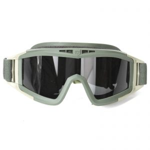 Desert Locust Style Tactical Eye Protection Glasses No Fog Goggle With 3Lens