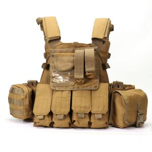 Tactical 1000D Nylon LBT 6094 Combat Strike Plate Carrier Vest w/ Molle Pouches