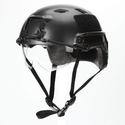 Airsoft Tactial BJ Type Tactical Fast Helmet w/ Protective Goggles