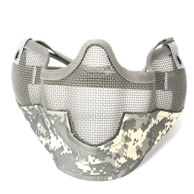 Tactical Adjustable  Strap Half Face Mask Metal Mesh Raider Mask Ver. 2