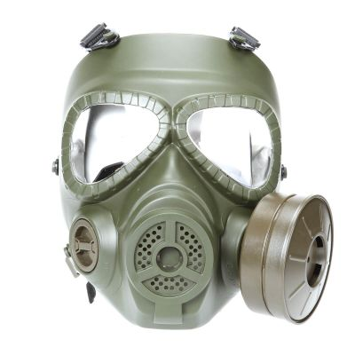 Tactical Full Face Dummy Gas Mask Goggle with Fan Ventilation