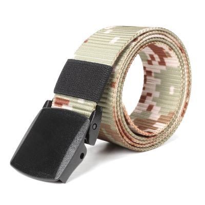 Tactical Nylon Canvas Breathable Waist Belt With Plastic Buckle