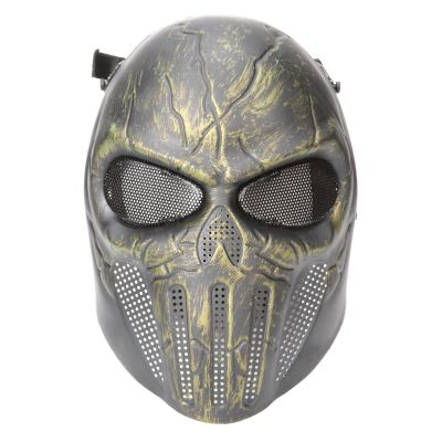 Tactical Outdoors CS War Game Mask Paintball Halloween Ear-protective Airsoft Full Face Scary Horror Skull Mask