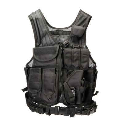 Adjustable Lightweight Assault Swat Tactical Vest Molle Airsoft Vest