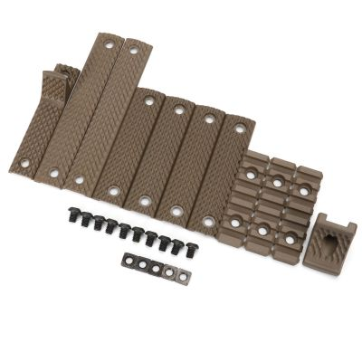 BD KAC  URX Edition RIS RAS Rail Cover Kit  Panel With Handgruad & 3 Pcs 20mm Rails