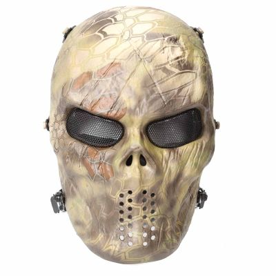 Tactical Skull Full Face Mask Eye Protection Ghost Zombie Scary Skeleton Mask M06