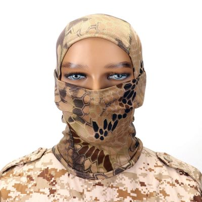 Windproof Sunscreen Breathable Camouflage Balaclava Hood Outdoor Military Tactical Helmet liner Gear Full Face Mask