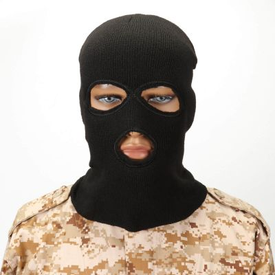 Tactical Airsoft CS Acrylic Wool Elasticity Outdoor Three Hole Neck Warmer  Full Face Mask