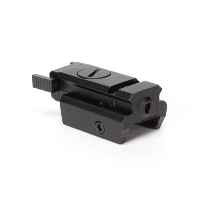 Tactical Low Profile Pistol Red Laser Sight Picatinny 20mm Rail Mount